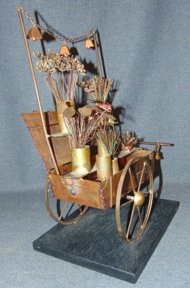 Curtis Jere Flower Cart Sculpture - 3