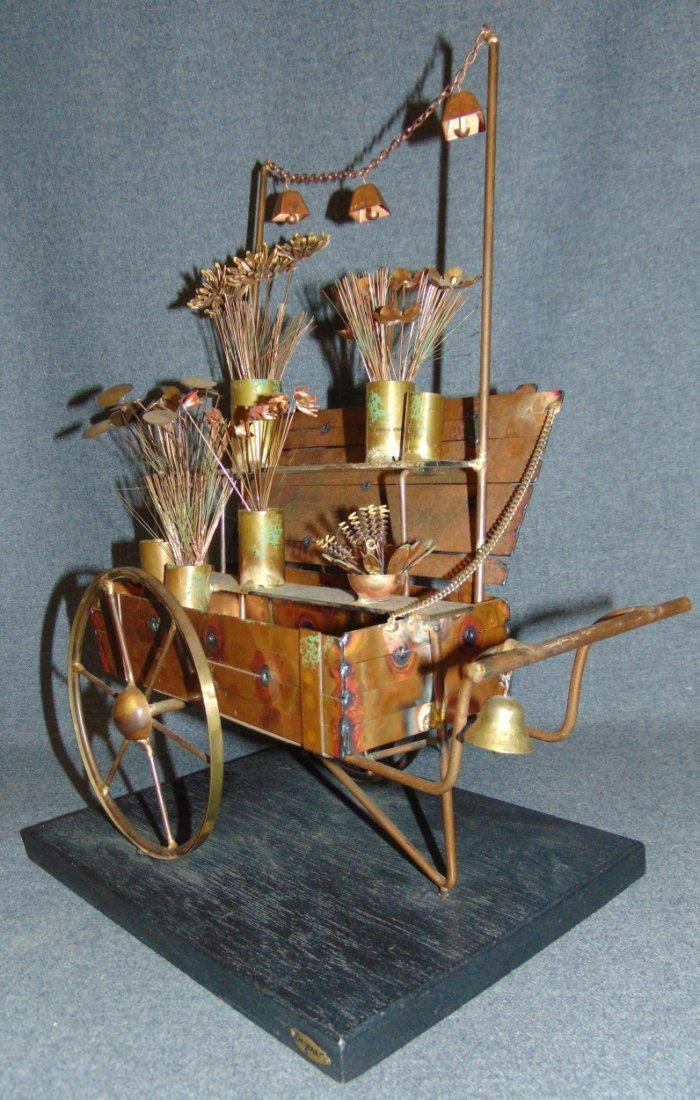 Curtis Jere Flower Cart Sculpture - 4
