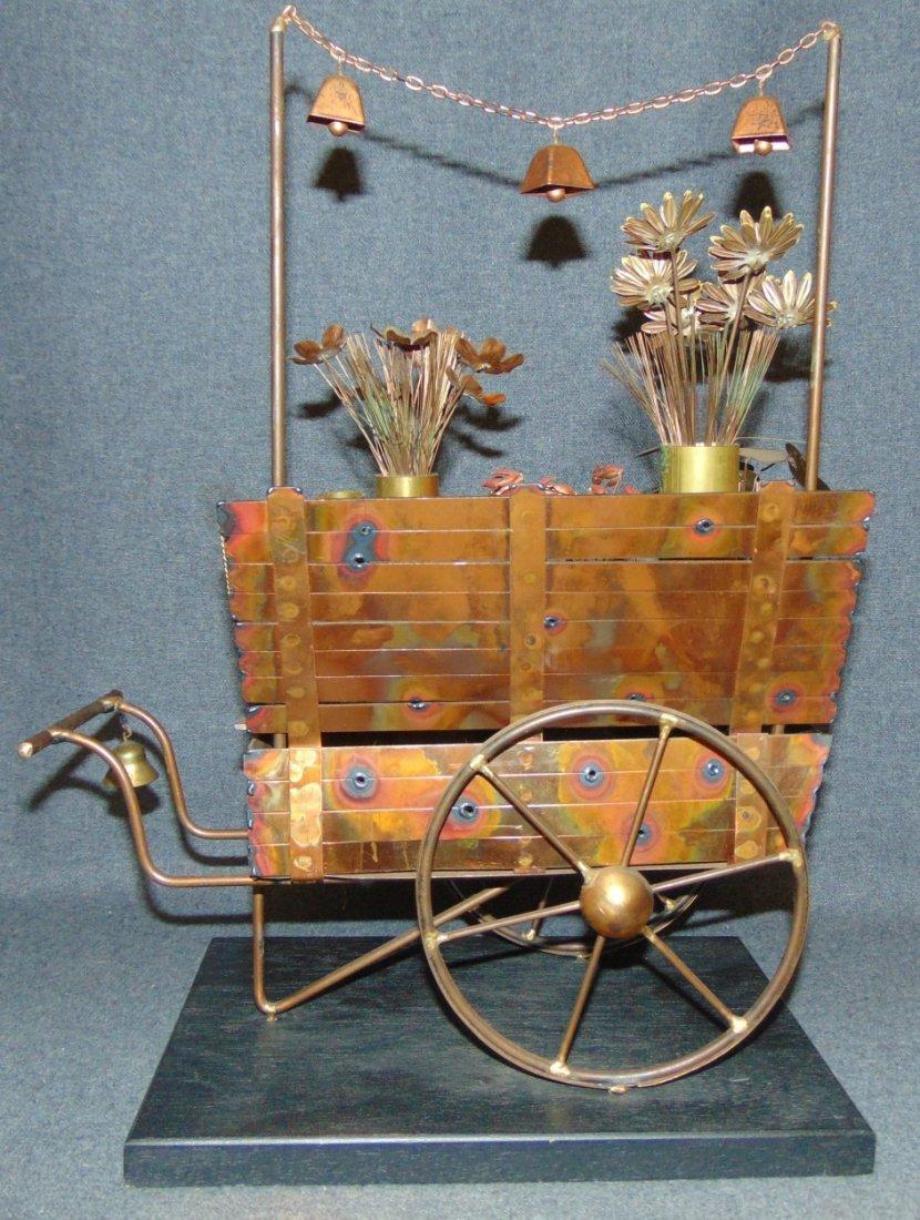 Curtis Jere Flower Cart Sculpture - 5