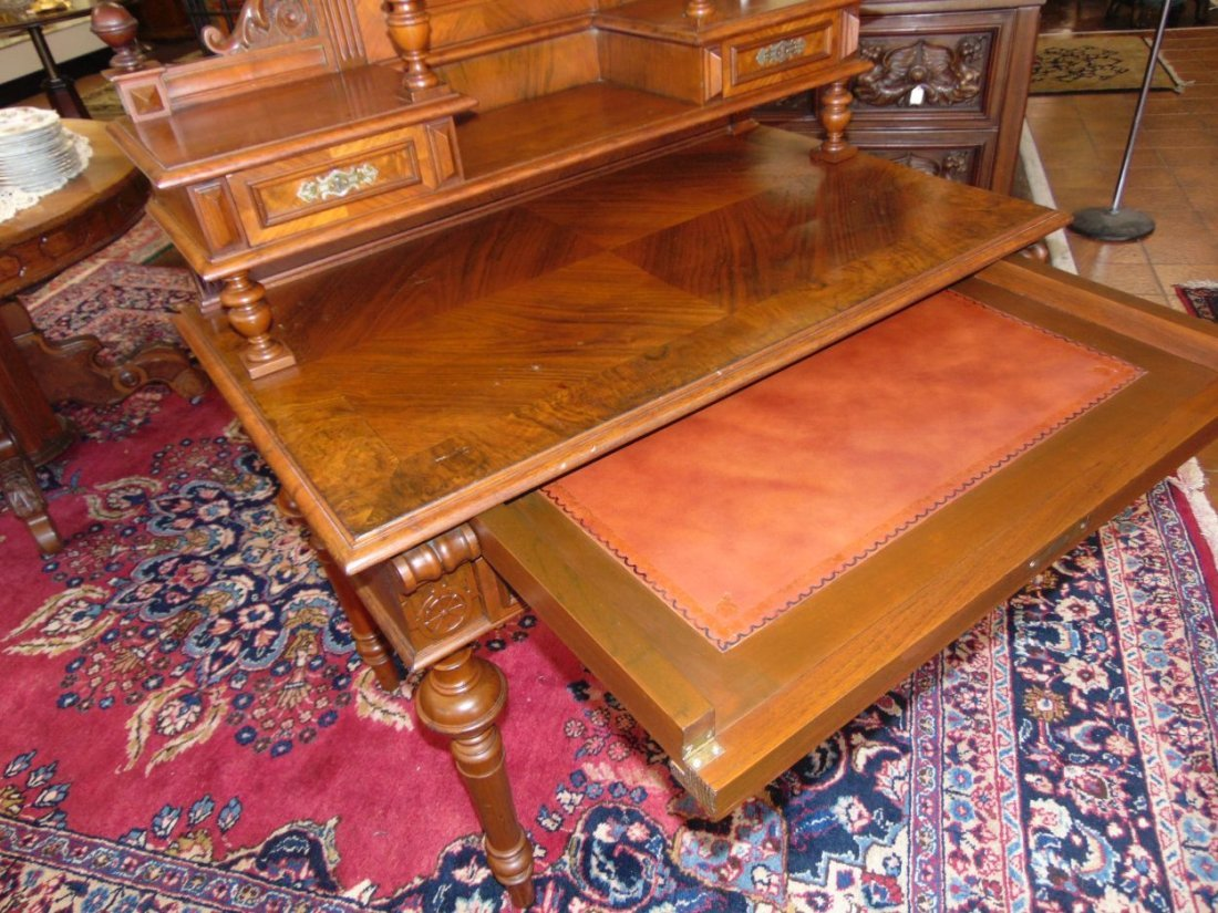 Antique Walnut Writing Desk - 5