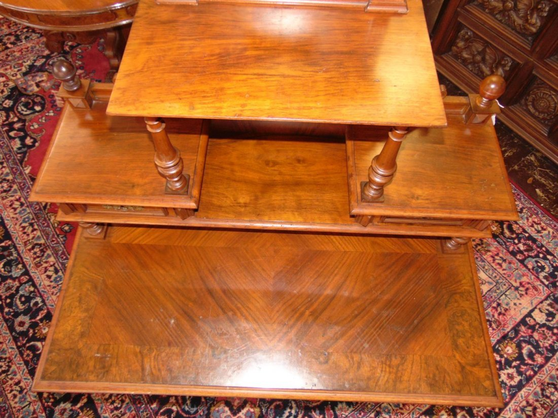 Antique Walnut Writing Desk - 6