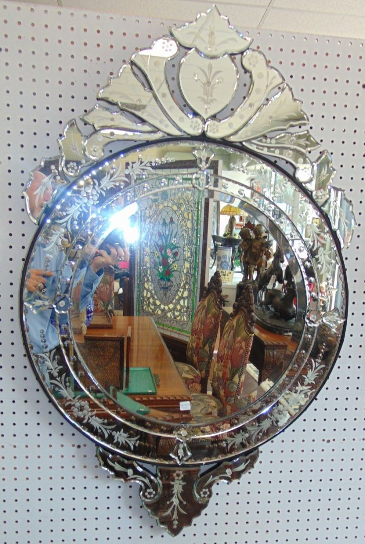 Decorative Venetian Style Wall Mirror - 2