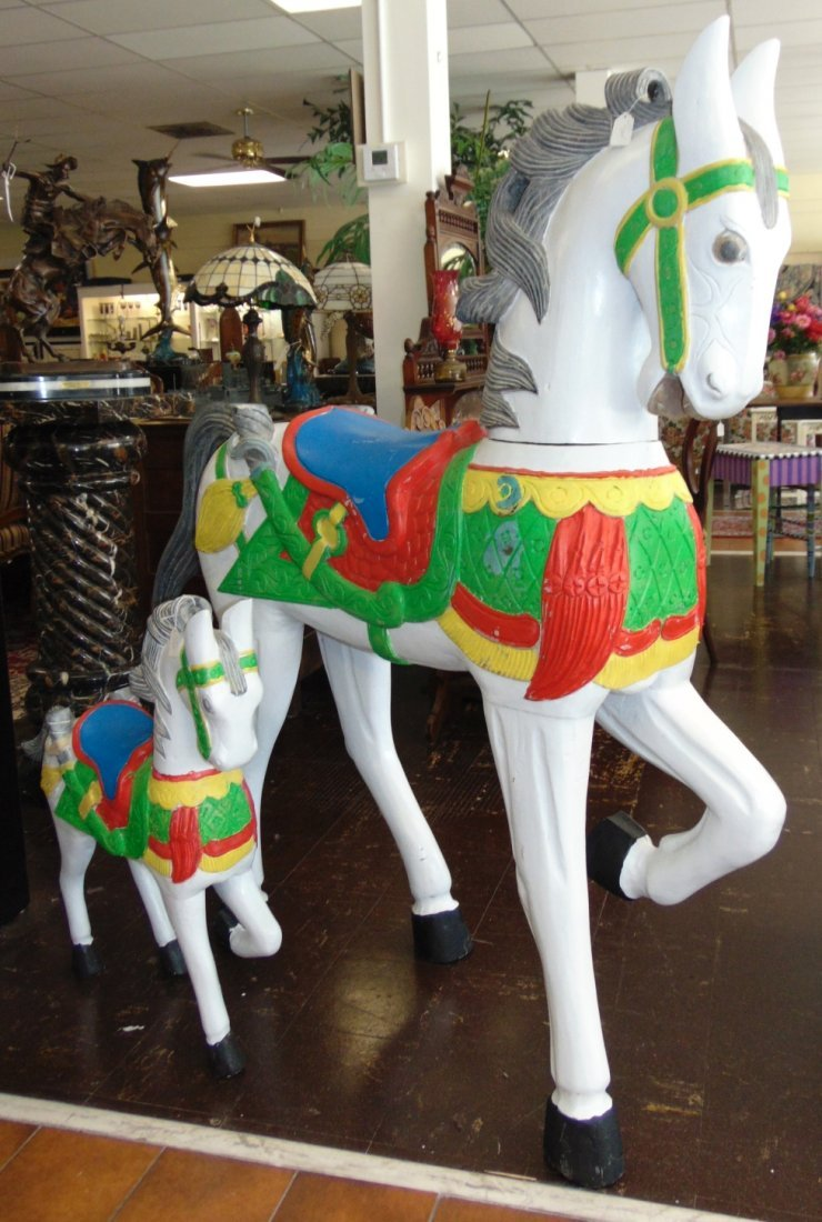 Carved and Painted Reproduction Carousel Horse