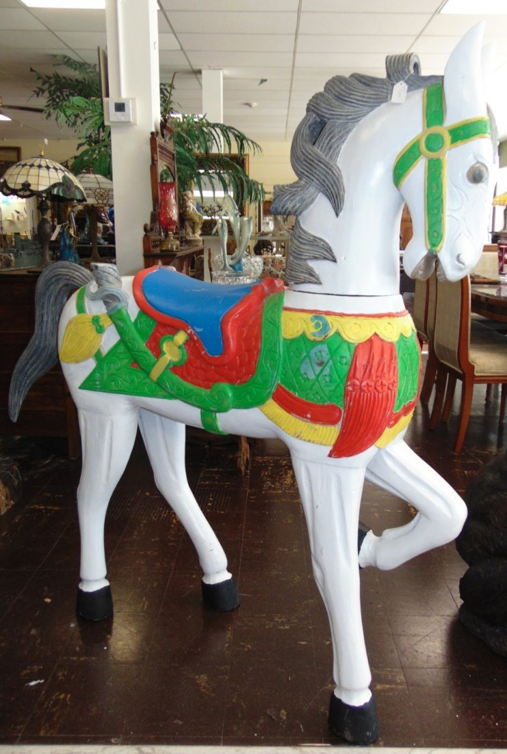 Carved and Painted Reproduction Carousel Horse - 2