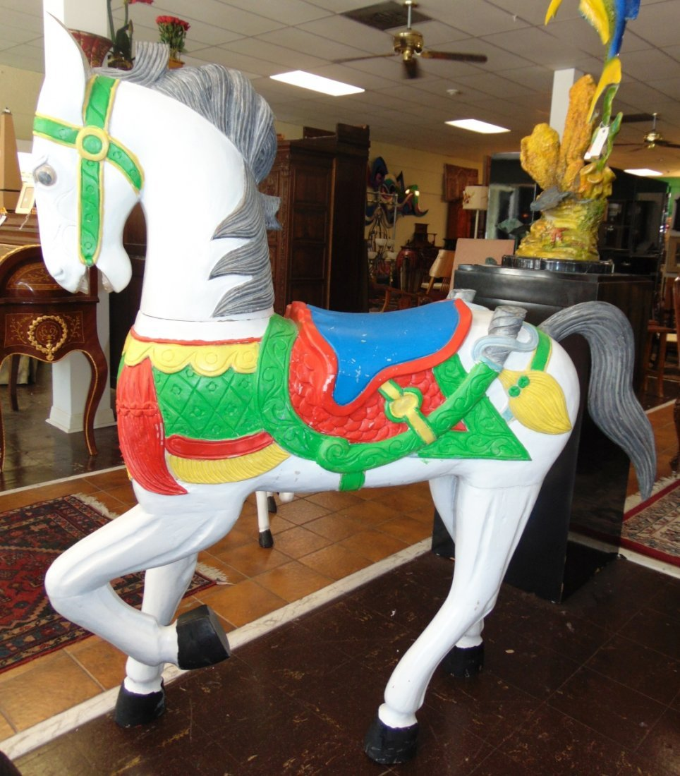 Carved and Painted Reproduction Carousel Horse - 3