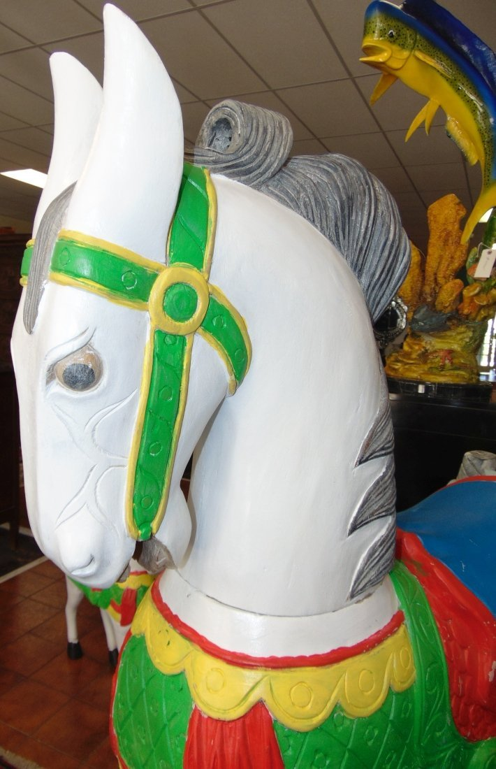 Carved and Painted Reproduction Carousel Horse - 4