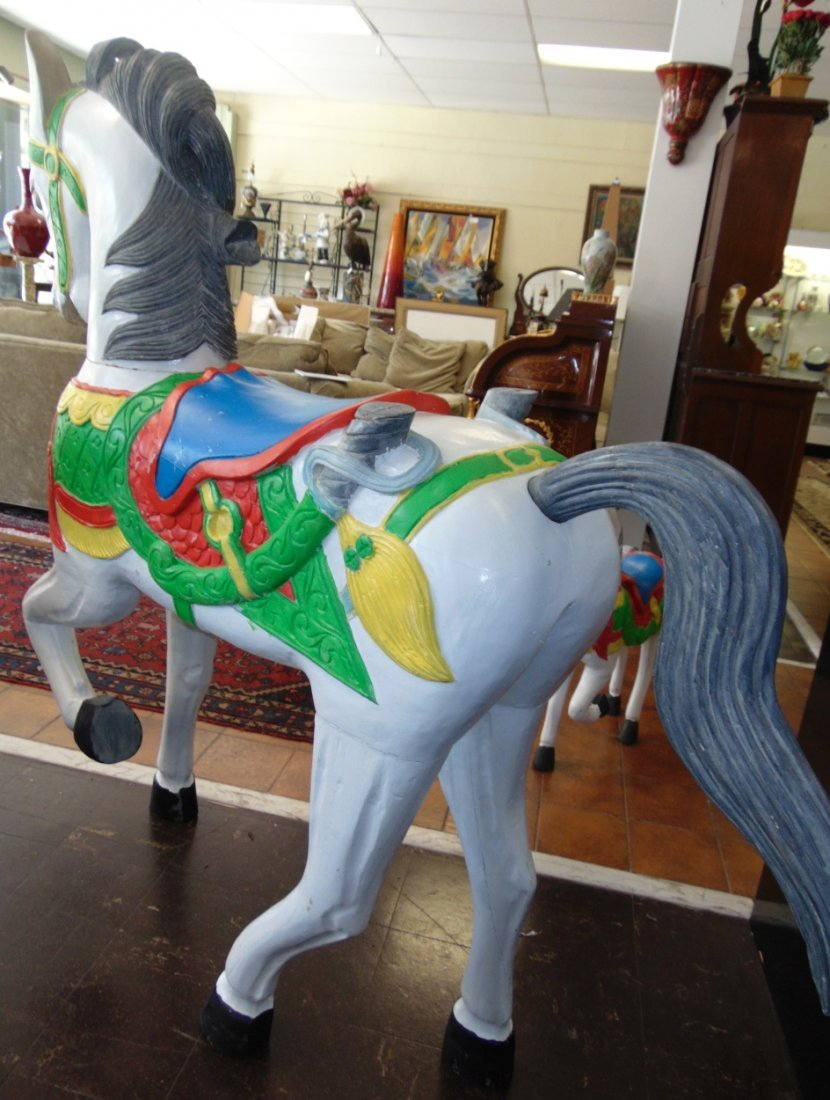 Carved and Painted Reproduction Carousel Horse - 7