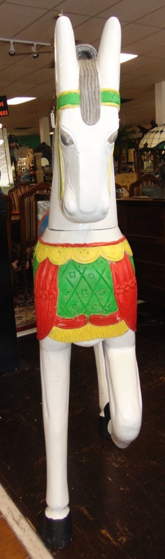 Carved and Painted Reproduction Carousel Horse - 8