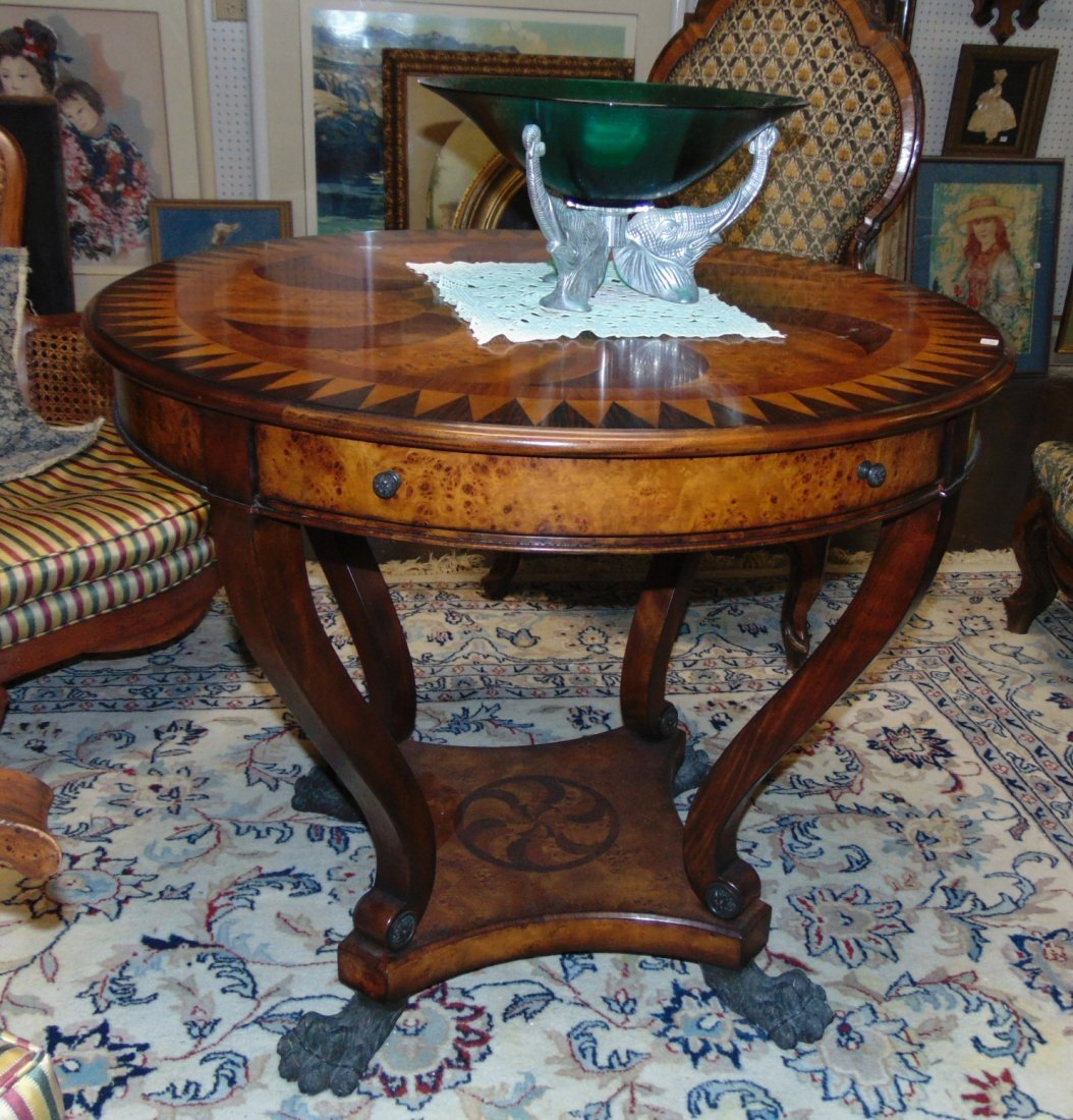 Theodore Alexander Marquetry Inlaid Center Table - 9