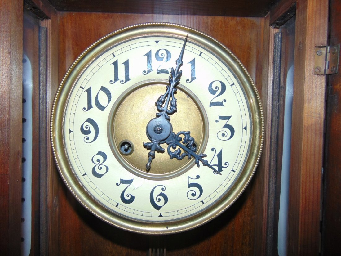 Antique European Wall Clock with Eagle - 6