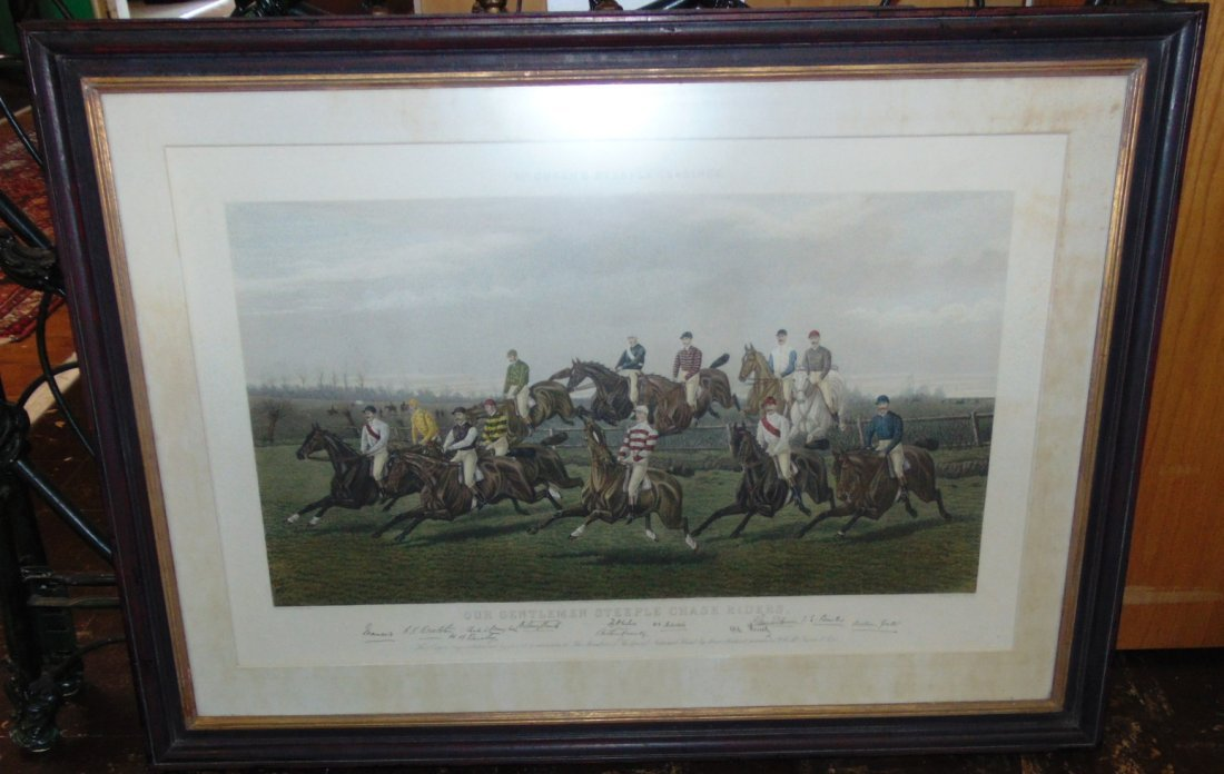 """Our Gentlemen Steeplechase Riders"" Engraving"