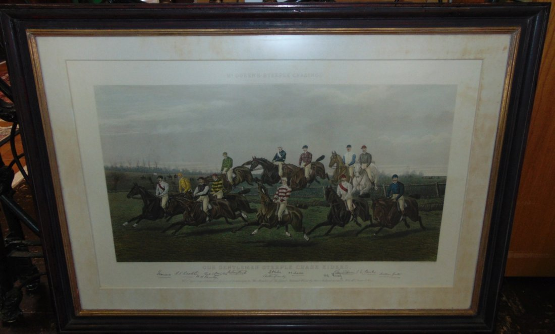 """Our Gentlemen Steeplechase Riders"" Engraving - 2"