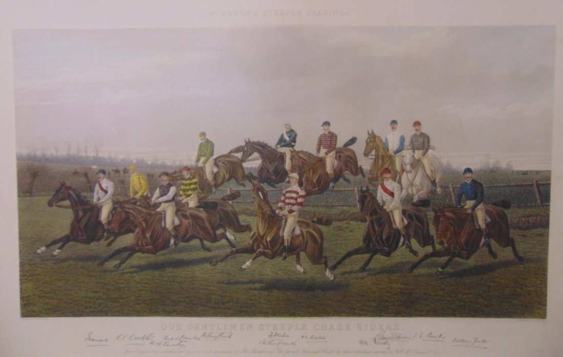 """Our Gentlemen Steeplechase Riders"" Engraving - 3"