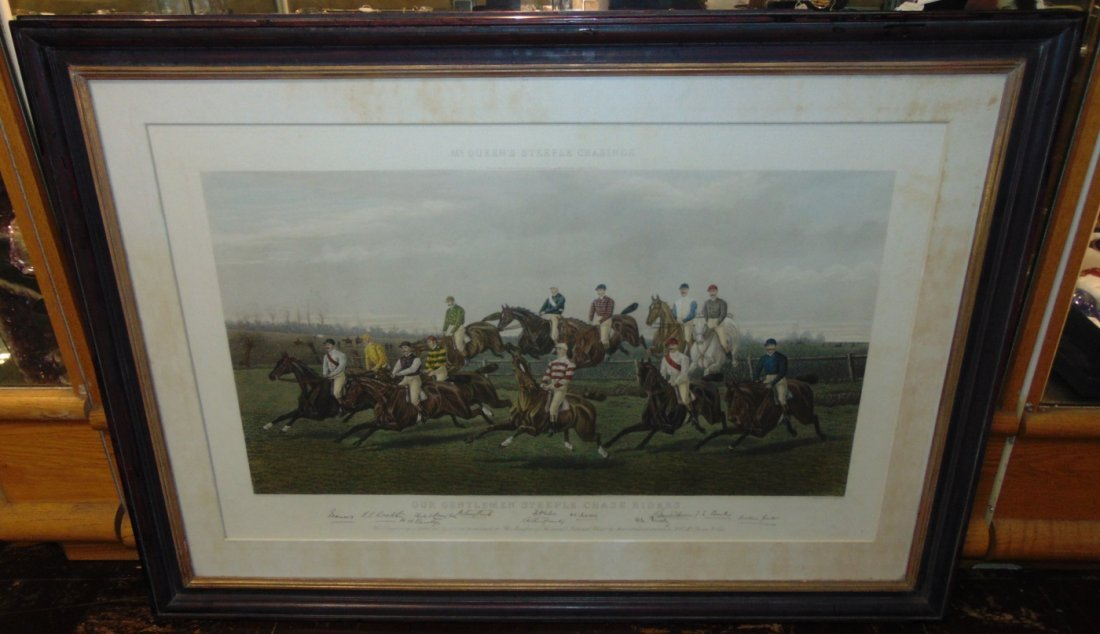"""Our Gentlemen Steeplechase Riders"" Engraving - 4"