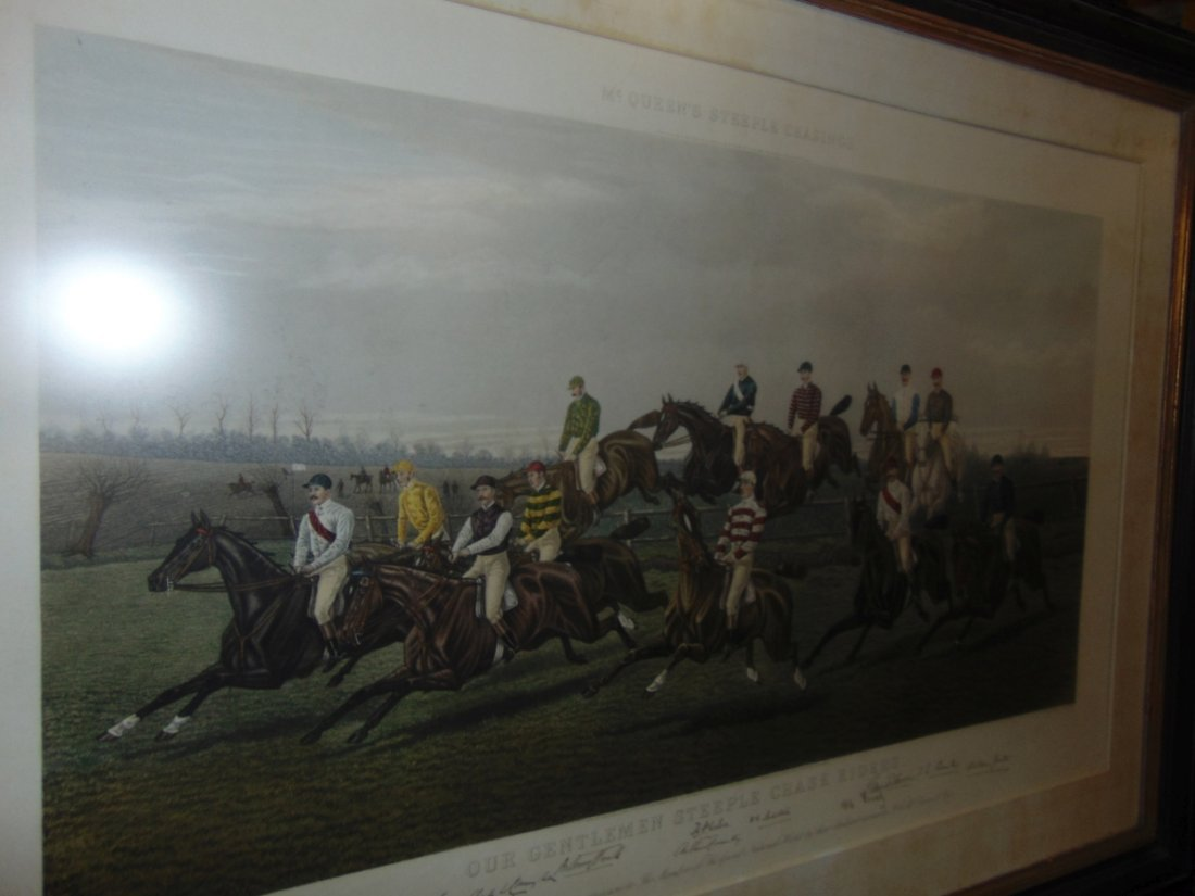 """Our Gentlemen Steeplechase Riders"" Engraving - 5"