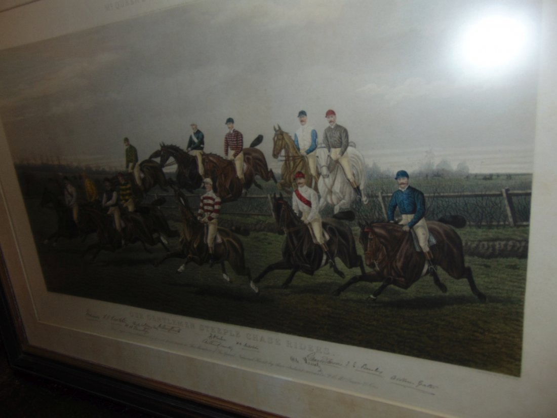 """Our Gentlemen Steeplechase Riders"" Engraving - 6"