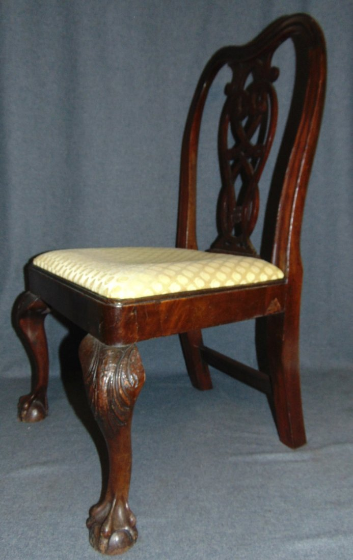 Vintage Childs Size Mahogany Chippendale Side Chair - 2