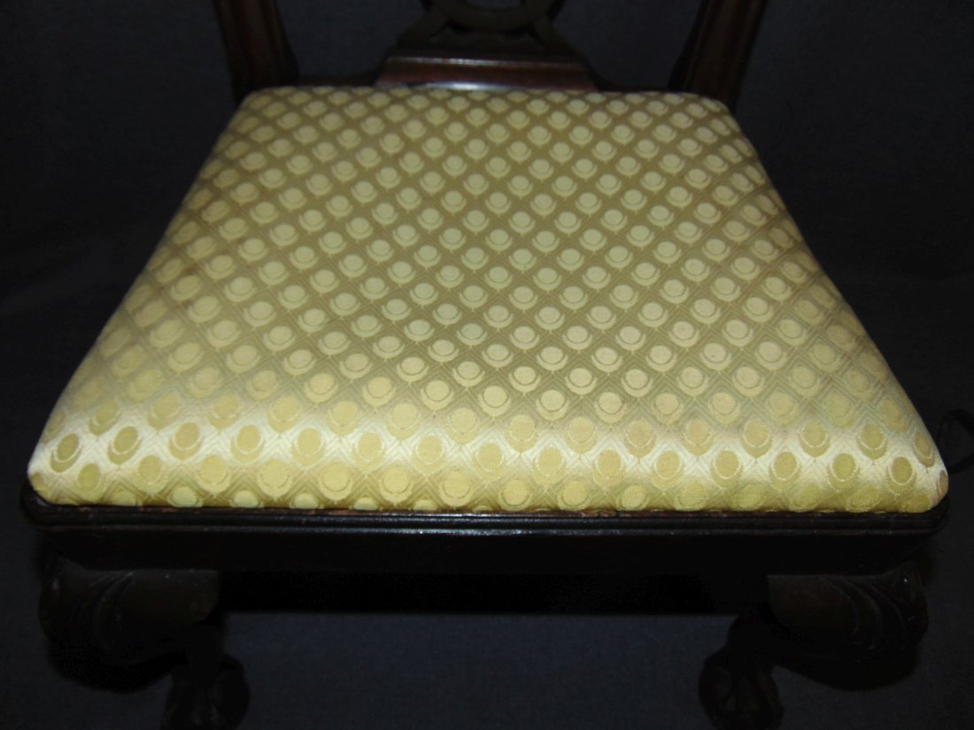 Vintage Childs Size Mahogany Chippendale Side Chair - 3