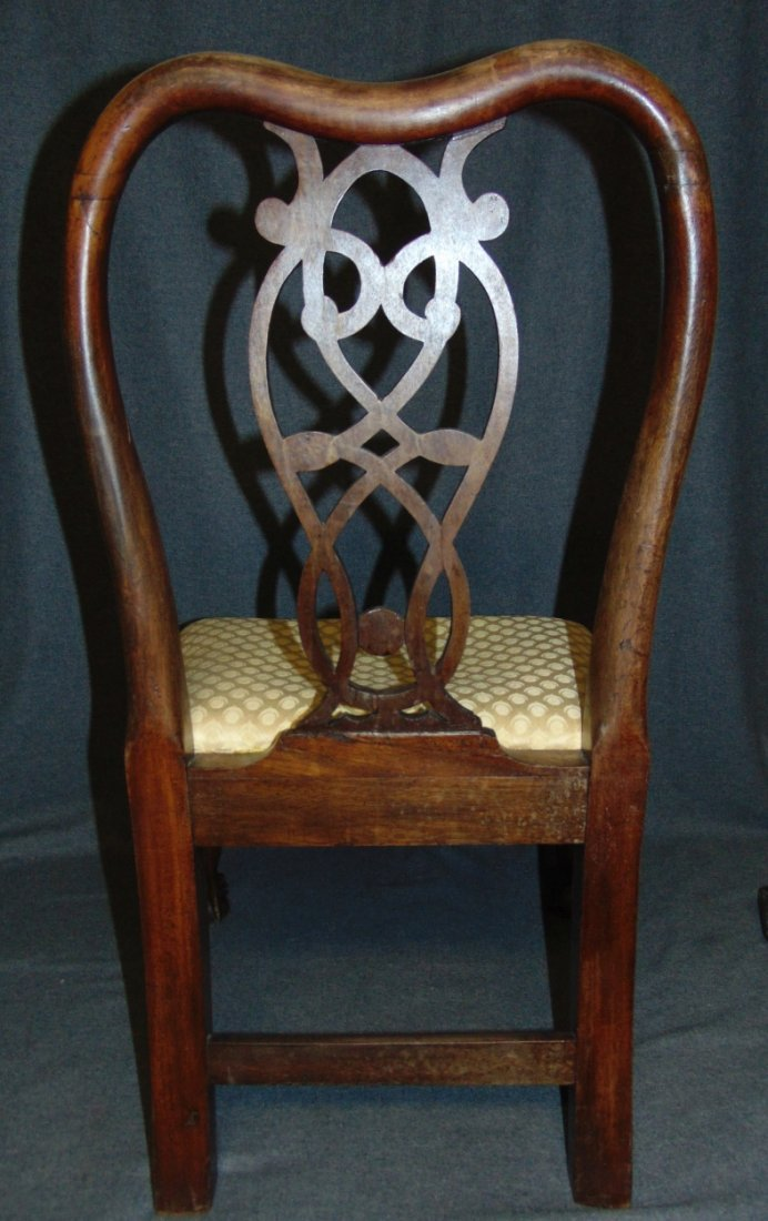 Vintage Childs Size Mahogany Chippendale Side Chair - 5