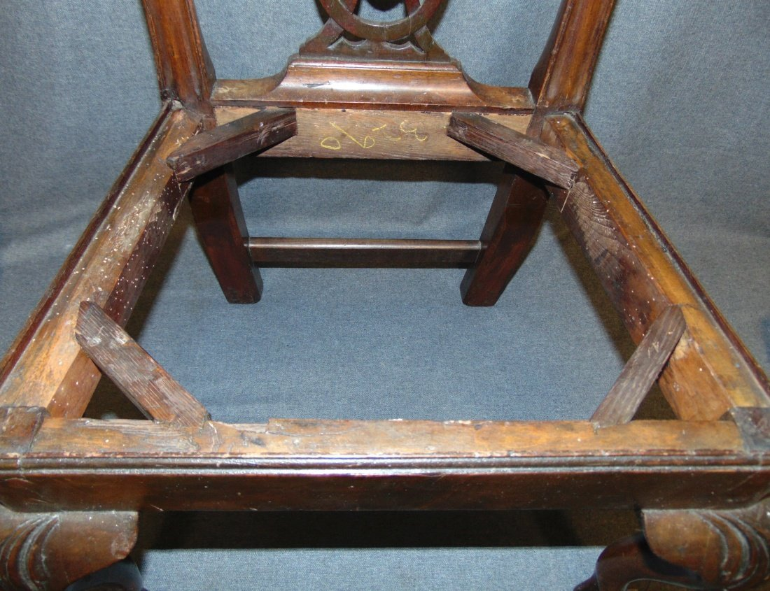 Vintage Childs Size Mahogany Chippendale Side Chair - 7