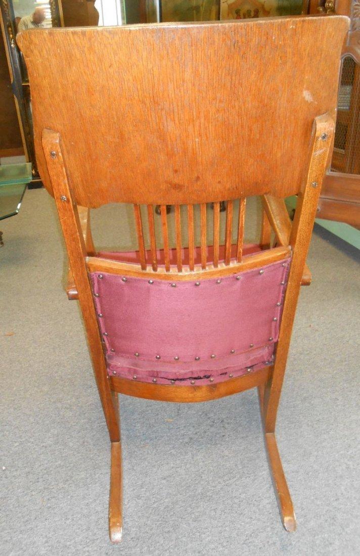Antique Golden Oak Rocking Chair - 3