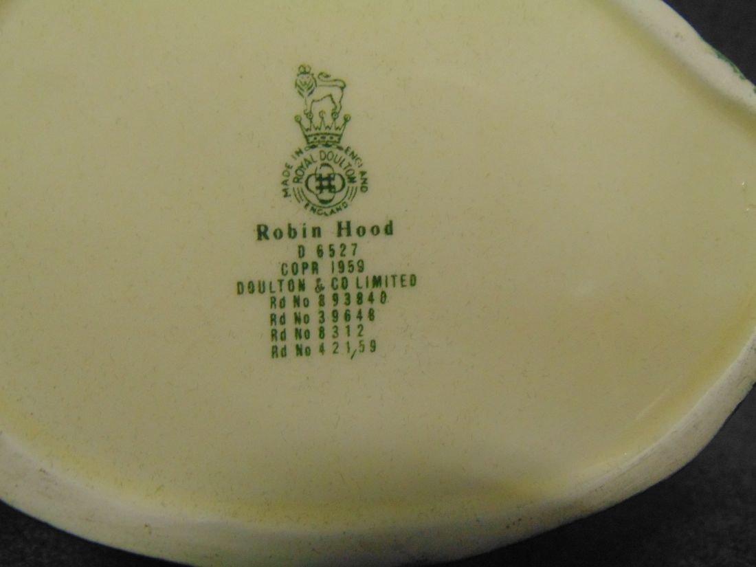 Large Royal Doulton Toby Mug Robin Hood #6527 - 4