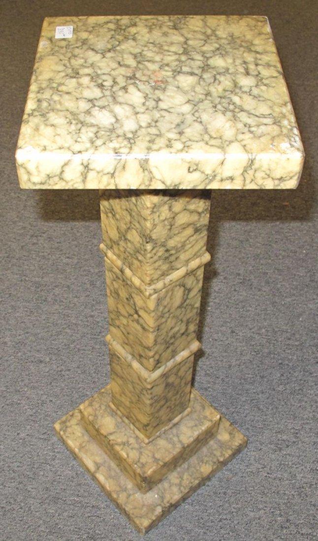 Antique Marble Display Pedestal - 2