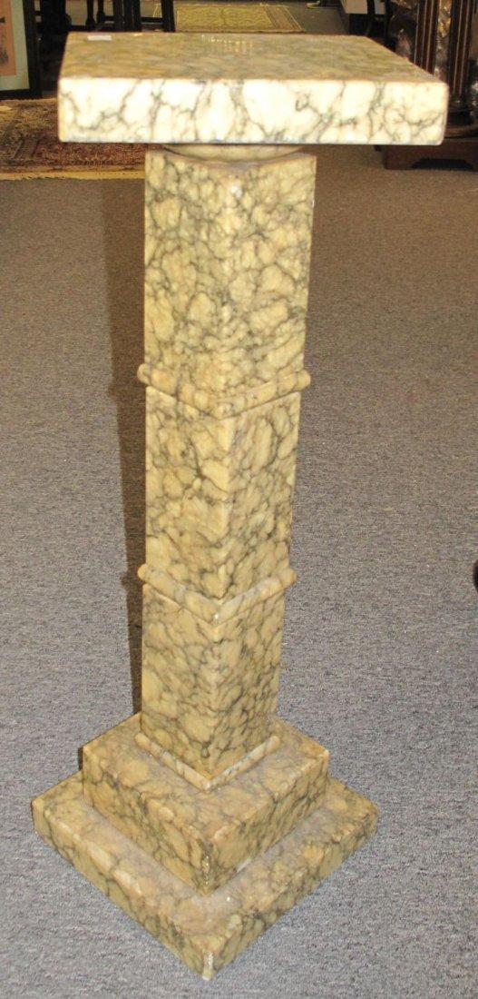 Antique Marble Display Pedestal - 3