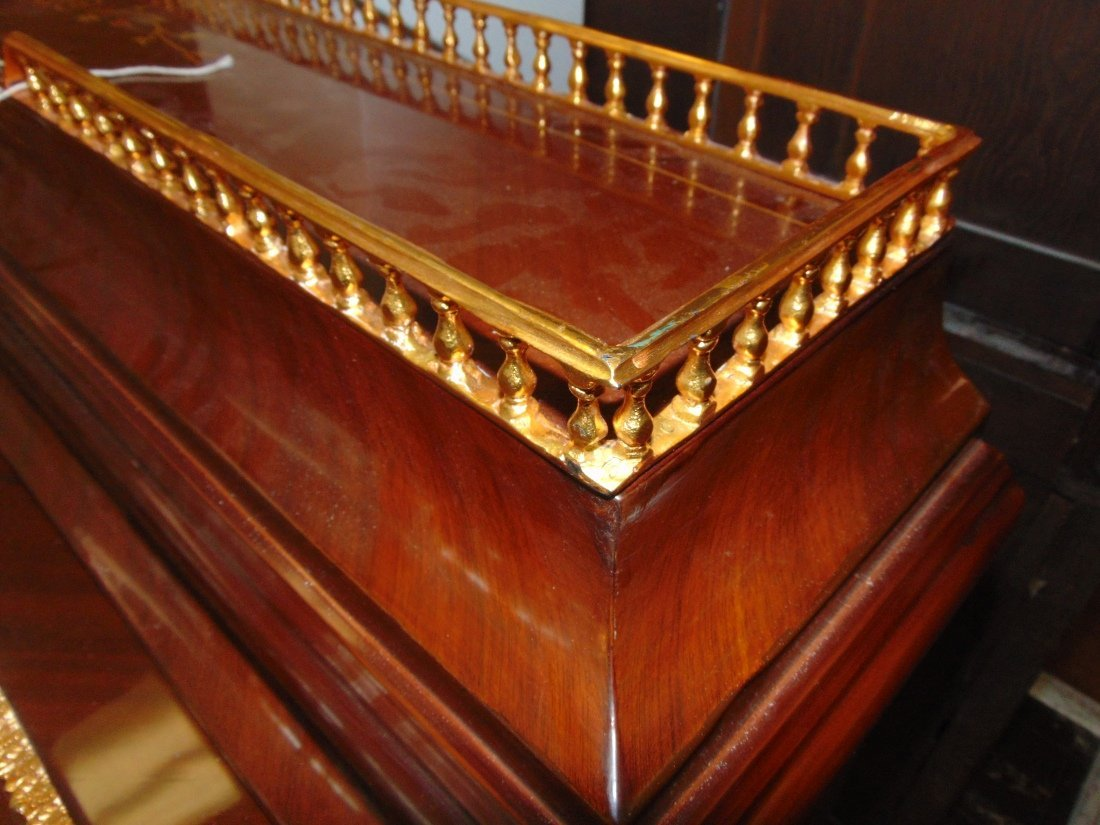 Empire Style Cylinder Top Desk with Gilt Bronze Mounts - 10
