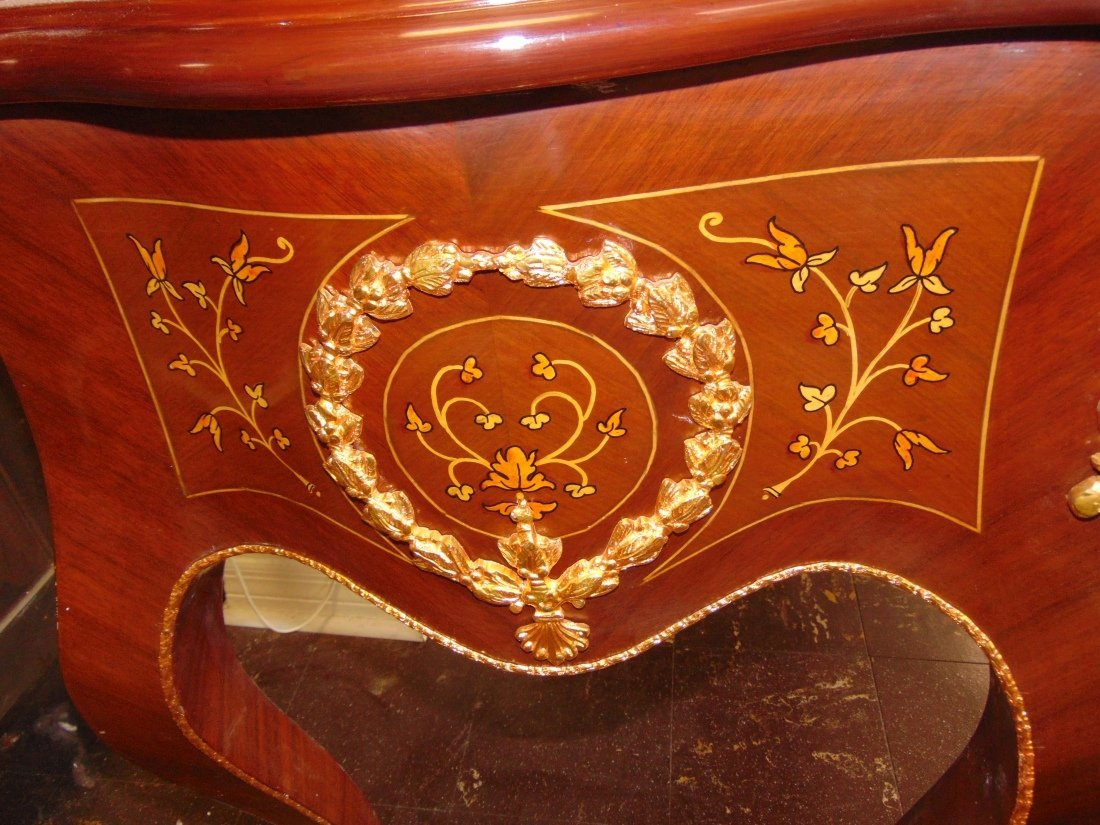 Empire Style Cylinder Top Desk with Gilt Bronze Mounts - 9