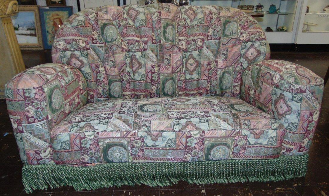 Vintage Art Deco Upholstered Sofa
