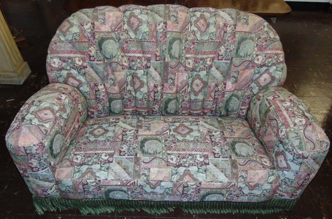 Vintage Art Deco Upholstered Sofa - 2