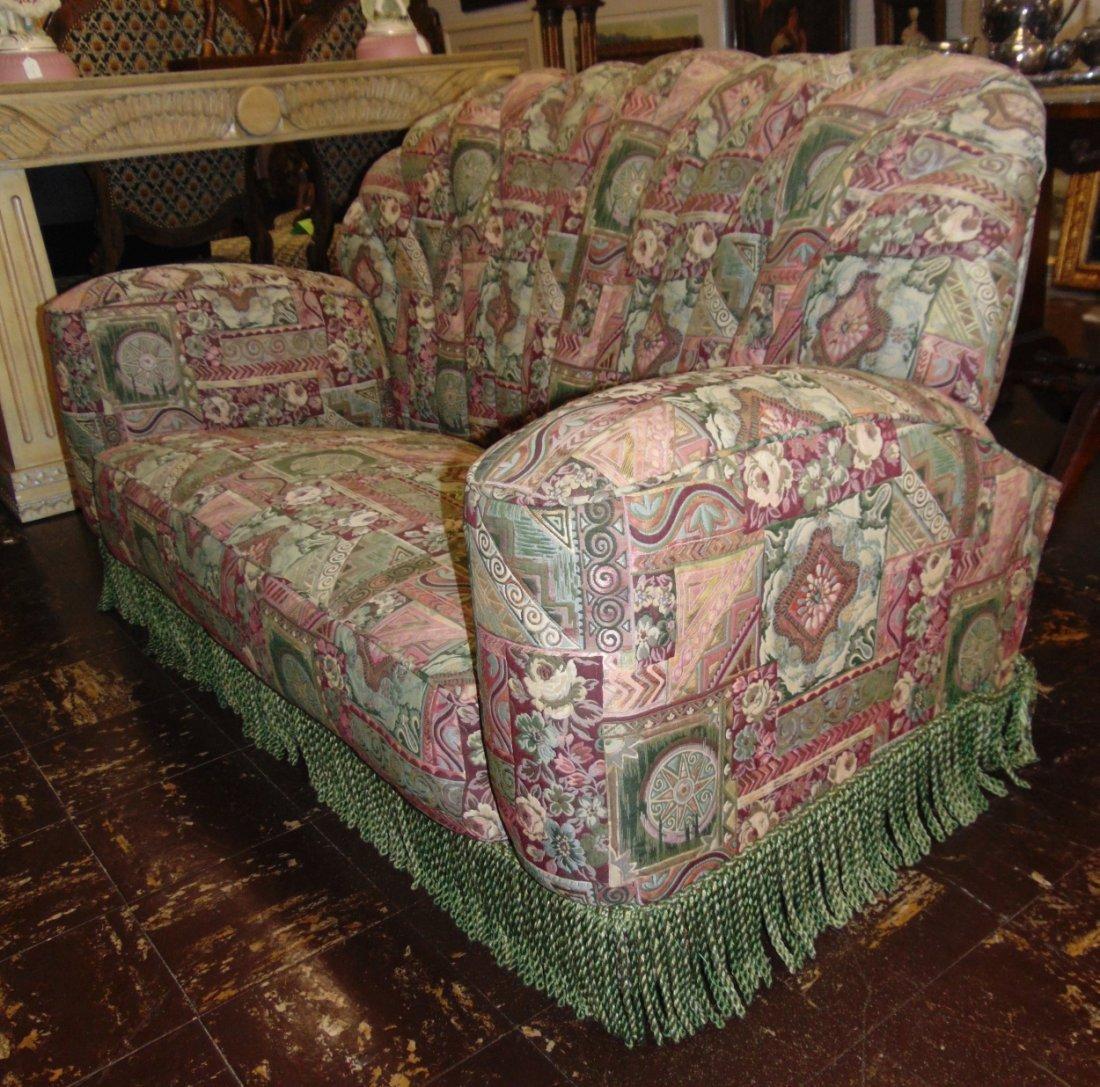 Vintage Art Deco Upholstered Sofa - 3