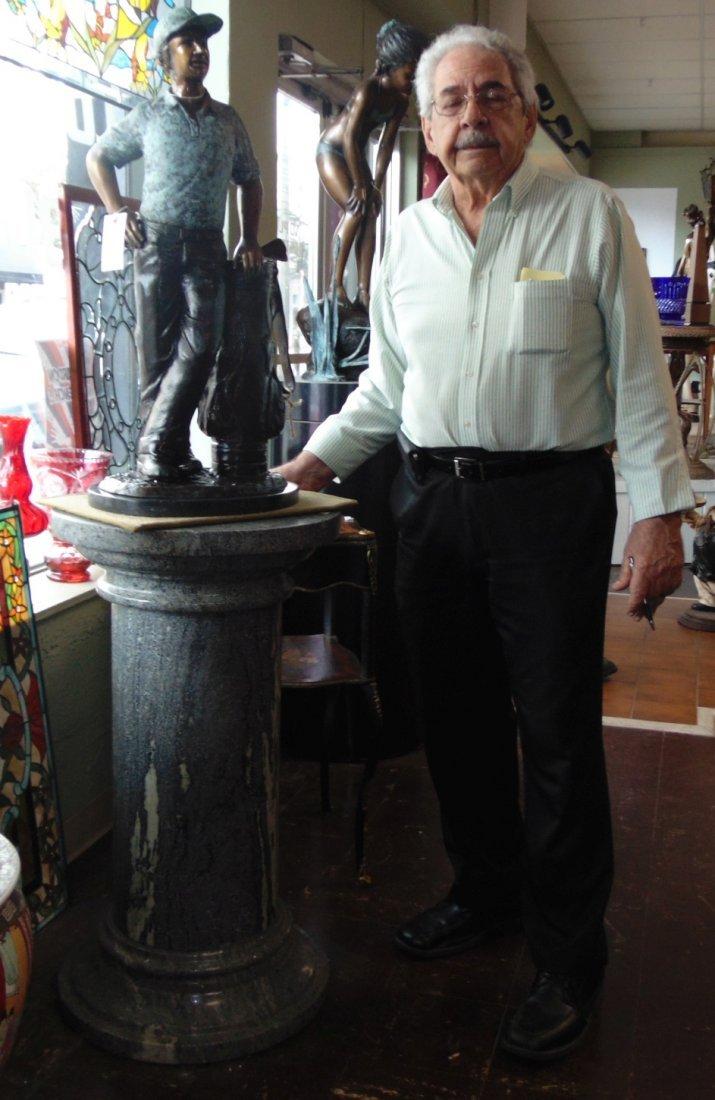 Green Marble Display Pedestal