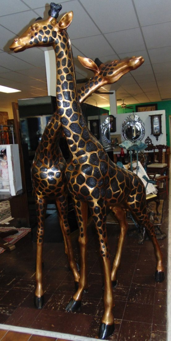 2 Magnificent Bronze Giraffes - 2