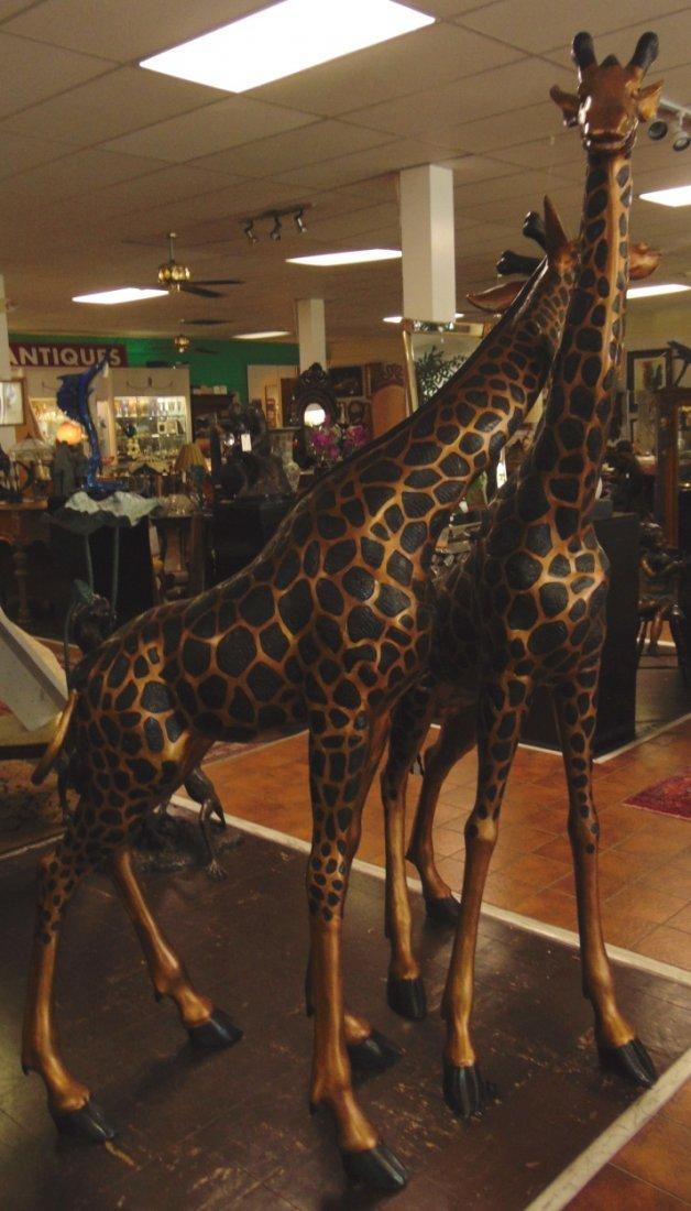 2 Magnificent Bronze Giraffes - 4