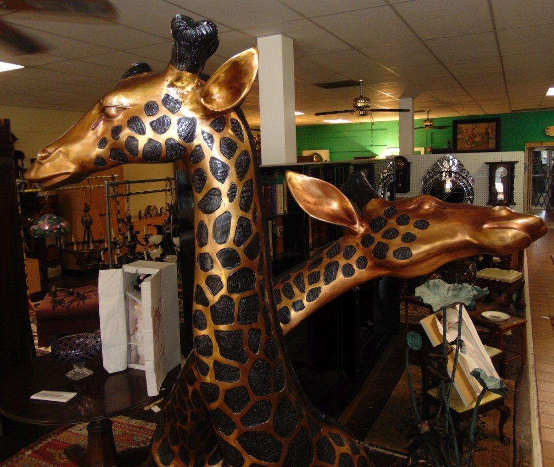 2 Magnificent Bronze Giraffes - 5