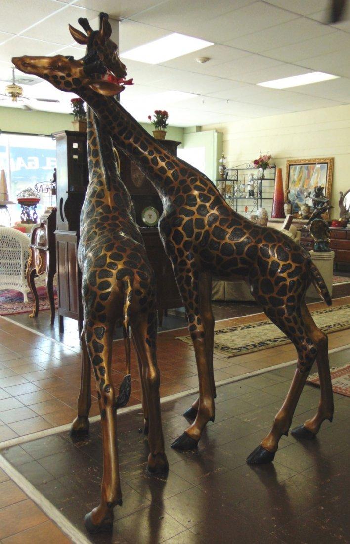 2 Magnificent Bronze Giraffes - 6