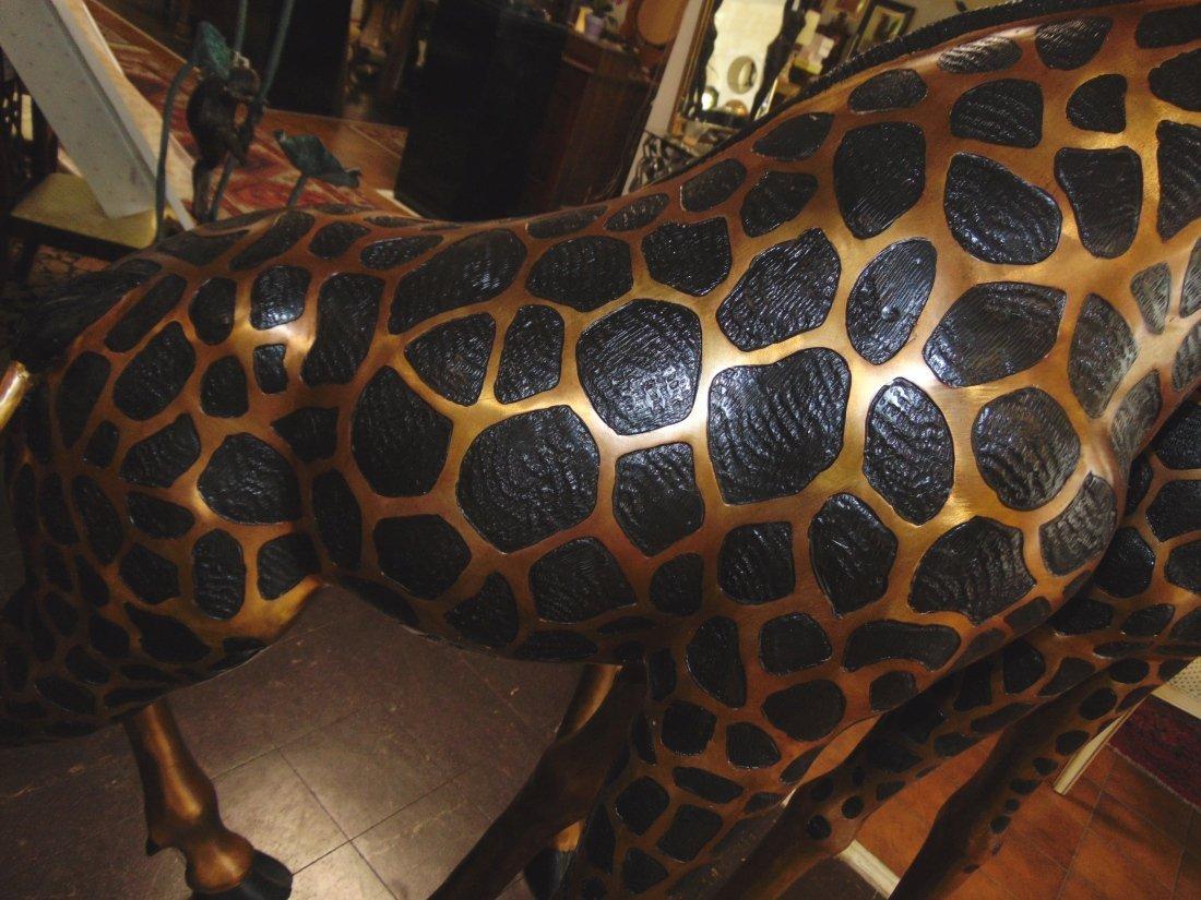 2 Magnificent Bronze Giraffes - 7