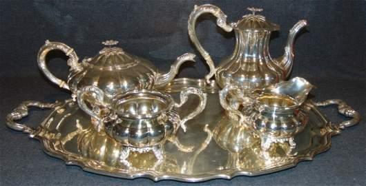 "Sterling Silver Birks Canada ""Mellon"" Tea & Coffee Set"