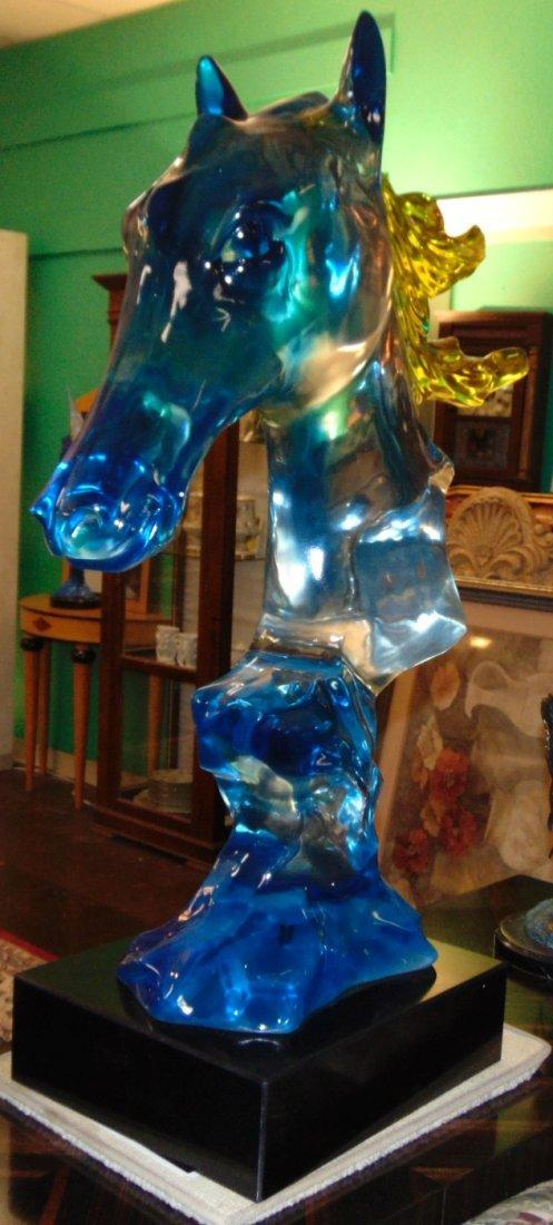 Multi Color Acrylic Horse Head Sculpture - 3