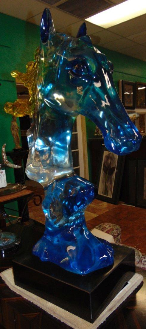 Multi Color Acrylic Horse Head Sculpture - 5