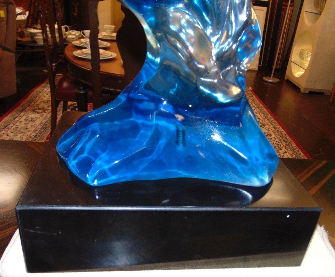 Multi Color Acrylic Horse Head Sculpture - 6