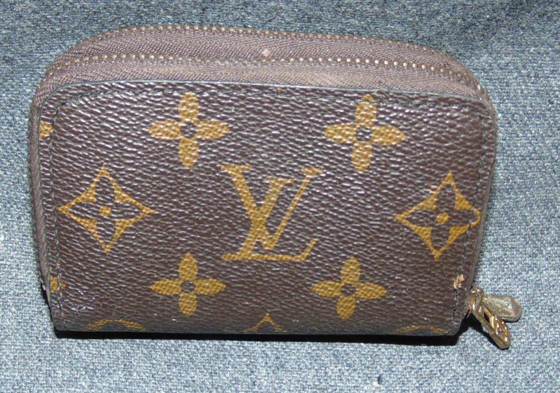 a81114526e2 Vintage Louis Vuitton Monogram Double Zipper Key Wallet