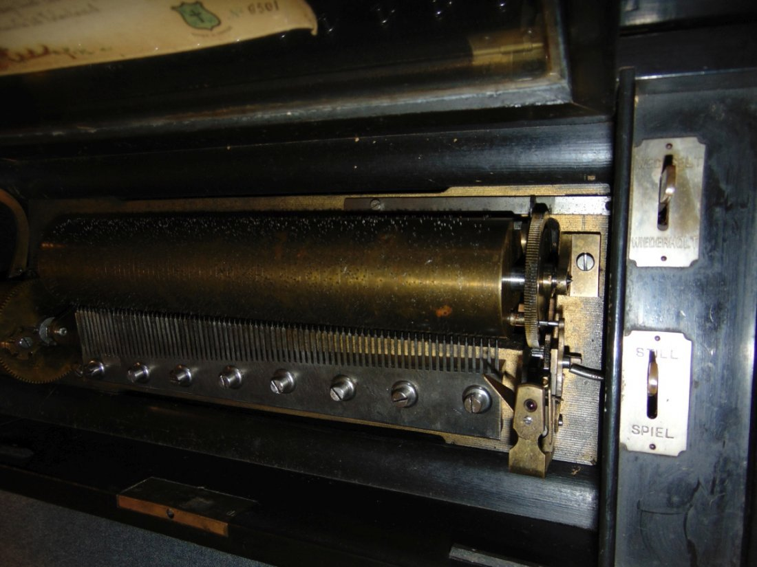 Antique Cylinder Music Box - 10