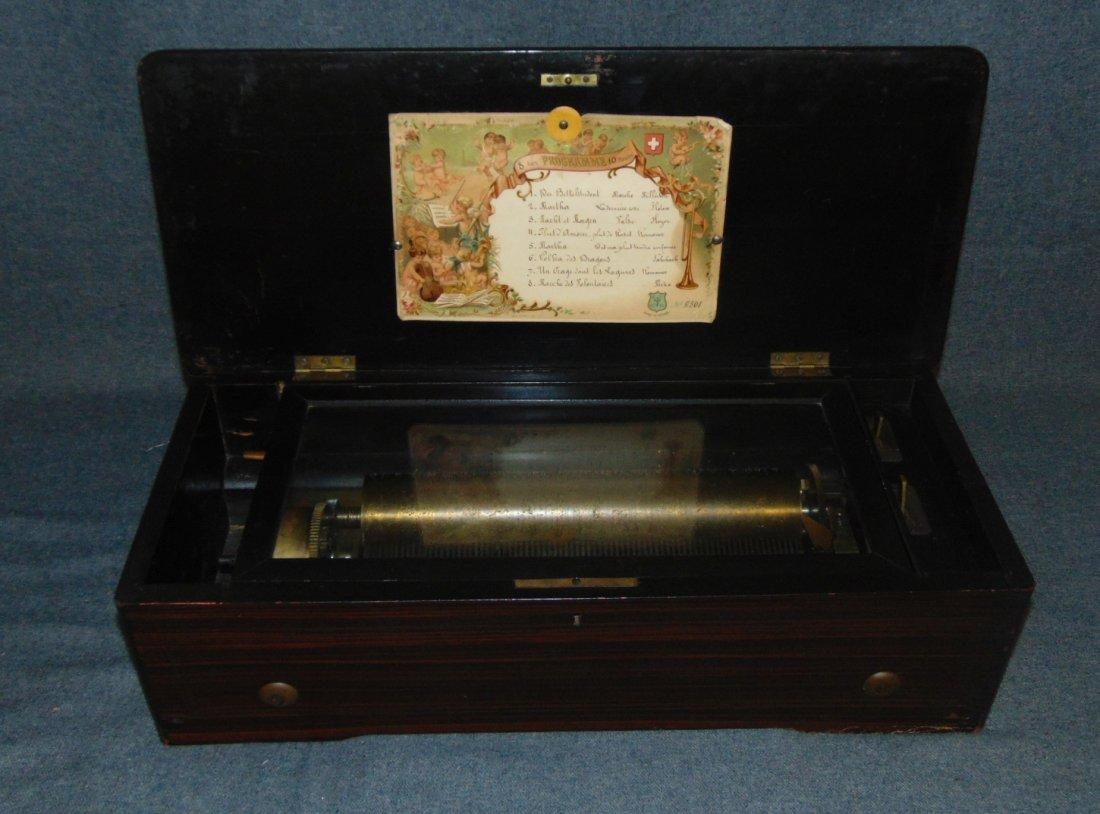 Antique Cylinder Music Box - 5