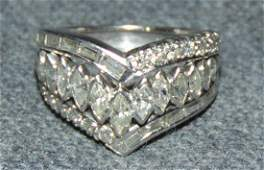 14k White Gold & 1.5 ct total weight Diamond Ring