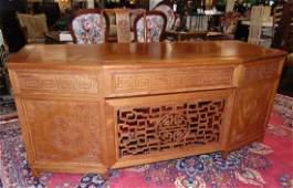 Oriental Teak Desk by George Zee