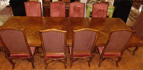 11 Ft. Dining Table and 10 Chairs
