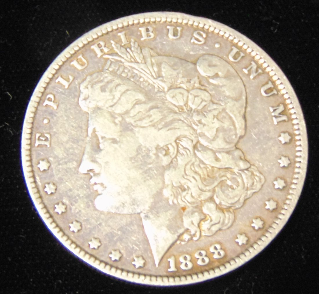 Morgan US Silver Dollar 1888-s